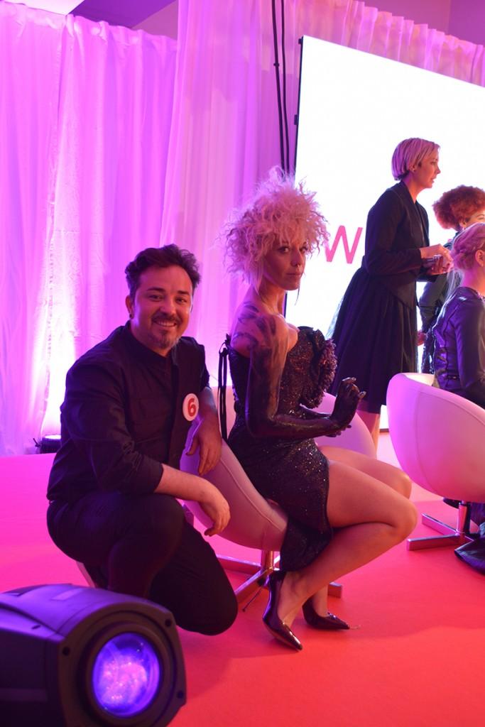 Francisco José Gallardo y Modelo Hairkrone para Trendvision España 2016