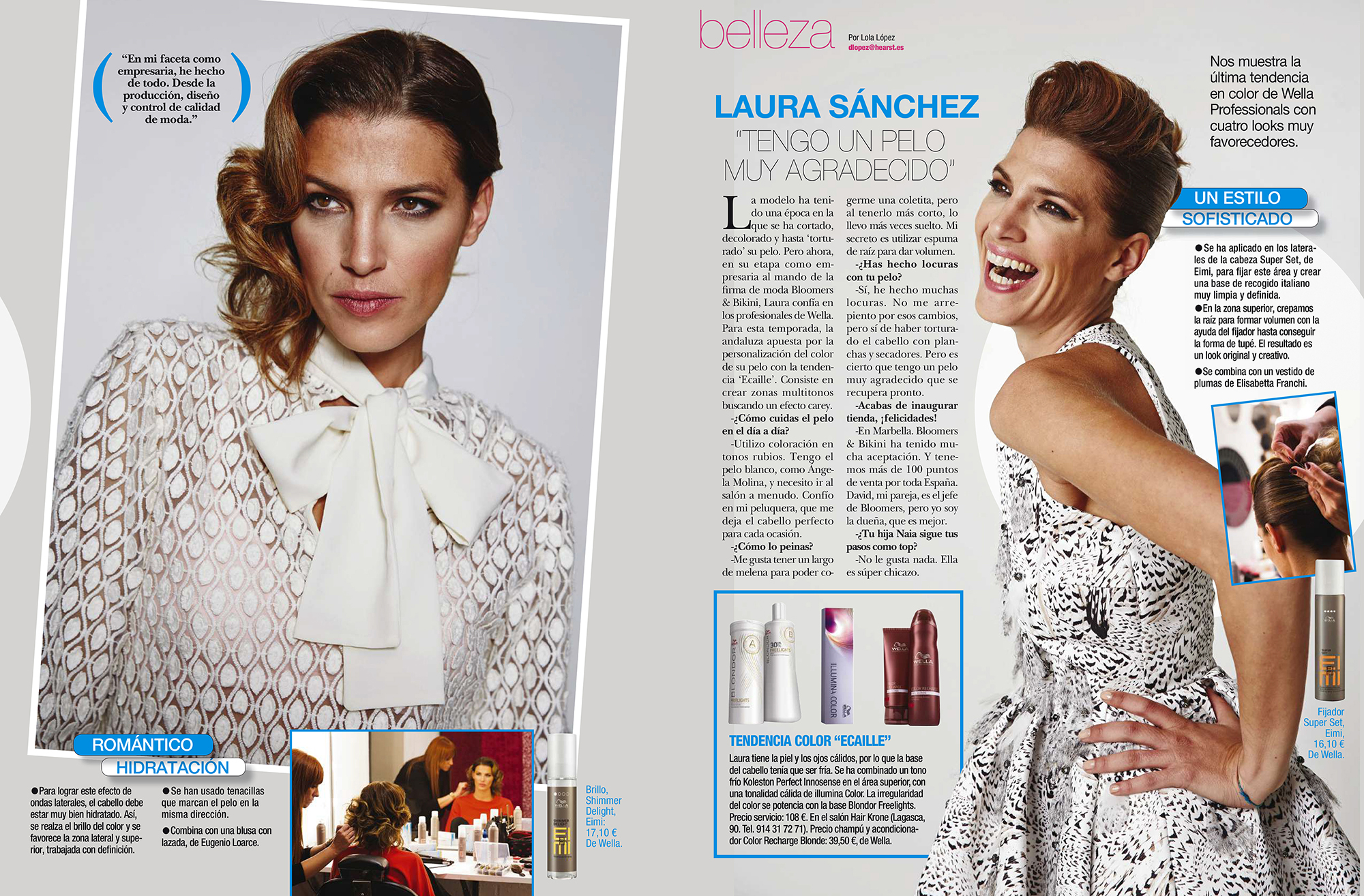 Laua Sánchez: sesión de belleza